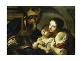 Saint Nicholas of Bari with Two Children Giclee Print by Cignaroli Giambettino
