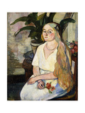 Portrait of Germaine Utter Giclee Print by Suzanne		 Valadon