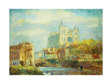 Amiens Cathedral in Autumn Sun Print by Albert		 Lebourg