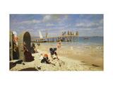 A Sunny Day at the Beach Giclee Print by Wilhelm Simmler