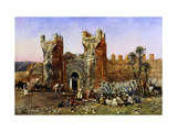 At the Gate of Shelah, Past and Present Impression giclée par Weeks Edwin Lord