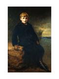 Portrait of Cecil Webb, wearing a Black Coat with a Fur Collar Lámina giclée por John Everett Millais