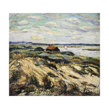Shack on the Bay Art by Ernest		 Lawson
