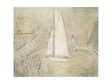 The White Yacht in Monte Carlo Premium Giclee Print by Christopher		 Wood