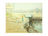The Mill Dam, Cos Cob Prints by Childe Hassam