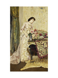 Flower Arranging Giclee Print by Alfred		 Stevens