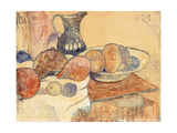 Still life with a Pitcher and Fruit Poster by Paul		 Gauguin