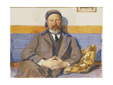 A Portrait of the Artist's Husband George Pauli Seated on a Sofa Giclee Print by Hanna		 Pauli