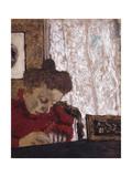 Marie Vuillard writing Poster by Edouard Vuillard