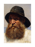 Portrait of a Fisherman Giclee Print by Edwin		 Harris