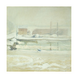 River Scene at Cos Cob Print by John Henry		 Twachtman