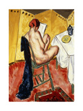 The Yellow Screen Giclee Print by Alfred Henry		 Maurer