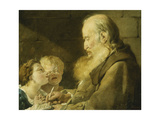 A Schoolmaster with His Pupils Prints by Noel		 Halle
