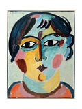 Girl's Head Art by Alexej Von Jawlensky