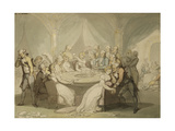 The Gaming Table Giclee Print by Thomas		 Rowlandson