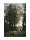 Picking Daisies Prints by Jean-Baptiste-Camille Corot