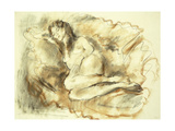Lying Nude Giclee Print by Jules		 Pascin
