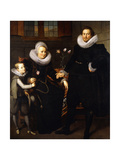 A group Portrait of a Family in an interior Giclee Print by (circle of) Adam Noort