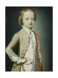 Portrait of the Hon. William Napier, 1735, Aged Eight, Wearing a Green Coat Premium Giclee Print by George		 Knapton