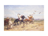The Falcon Chase Giclee Print by Henri Emilien Rousseau