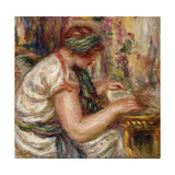 Woman in Arabic Dress Reading Poster by Pierre-Auguste		 Renoir