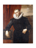 Portrait of Frans Snyders, half-length, in black costume Giclee Print by (follower of) Anthony Dyck