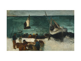 Fishing Boats and Fishermen Giclee Print by Édouard Manet