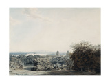 London from Greenwich Hill Giclee Print by John Robert		 Cozens