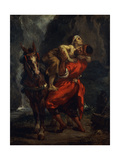 The Good Samaritan Giclee Print by Ferdinand Victor Delacroix