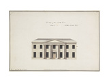 Soho House: Elevation of the South Front, Design A Giclee Print by James		 Wyatt