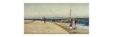 Figures on the Banks of an Estuary Premium Giclee Print by William Lionel Wyllie