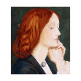 Portrait of Elizabeth Siddal, in Profile to the Right Art by Dante Gabriel Rossetti