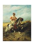 An Arab horseman Prints by Adolf Schreyer
