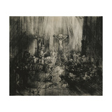 Christ Crucified Between the Two Thieves -'The Three Crosses' Giclee Print