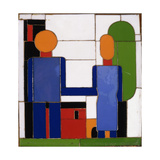 Man and Woman with Intersecting Arms Giclee Print by Franz Wilhelm		 Seiwert