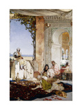Women in a Harem in Morocco Prints by Benjamin		 Constant
