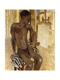 Negro Model in the Studio Giclee Print by Philpot Glyn Warren