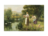 Gathering Spring Flowers Posters by Henry John Yeend		 King
