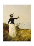 Young Woman Saying Goodbye Giclee Print by Marcel Emmanuel		 Moisand