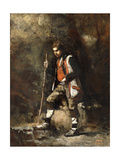 Young Italian boy on the Mountain Art by Jean-Baptiste-Camille Corot