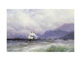 A Coastal Landscape with Shipping off Trebizond Giclee Print by Ivan Konstantinovich Aivazovsky