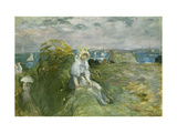 On the Cliff at Portrieux Giclee Print by Berthe		 Morisot