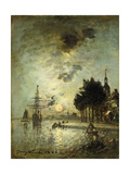 Moonlight; Clair de Lune Prints by Johan Barthold		 Jongkind