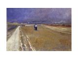 Railside Walk Giclee Print by Théophile Alexandre Steinlen
