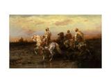Arab Horsemen Giclee Print by Adolf Schreyer