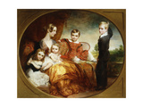 A Group Portrait of a Lady with her Four Children on a Terrace Giclee Print by George Frederic		 Watts