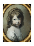 Portrait of Harriet Wright, the Artist's Daughter, as a Child Giclee Print by Joseph		 Wright of Derby