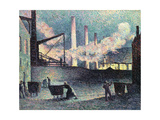 Factory Chimneys at Couillet Posters by Maximilien Luce