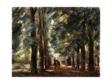 Avenue in Sakrow with Two Riders Reproduction giclée Premium par Max		 Liebermann