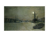 The Pool and London Bridge at Night Giclee Print by John Atkinson Grimshaw